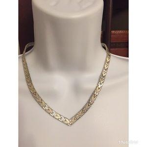 Jewelry - Italian Sterling silver Riccio Chevron necklace